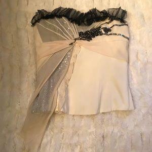 Karen Millen bustier w/beading & lace -- stunning!